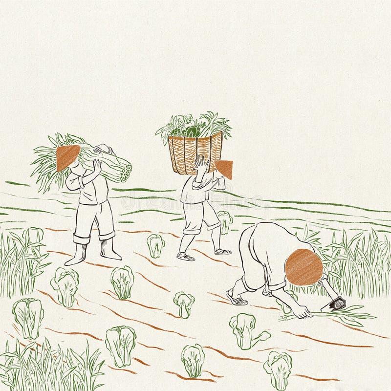 Agricoltori sul lavoro immagini stock