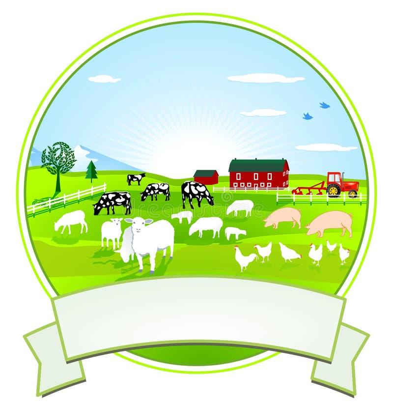 Agricoltura della scenetta illustrazione di stock