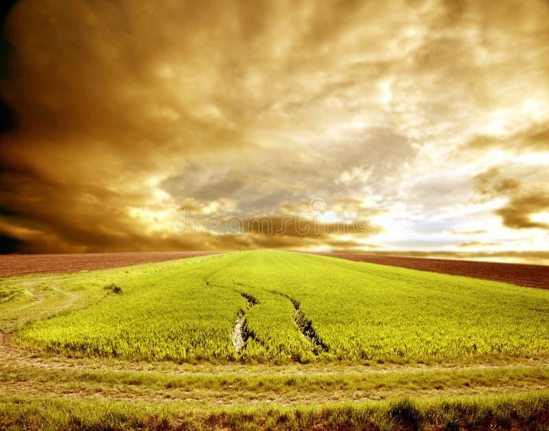 Agricoltura modific il terrenoare immagine stock libera da diritti