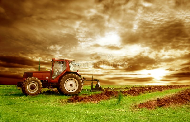Agricoltura modific il terrenoare immagine stock