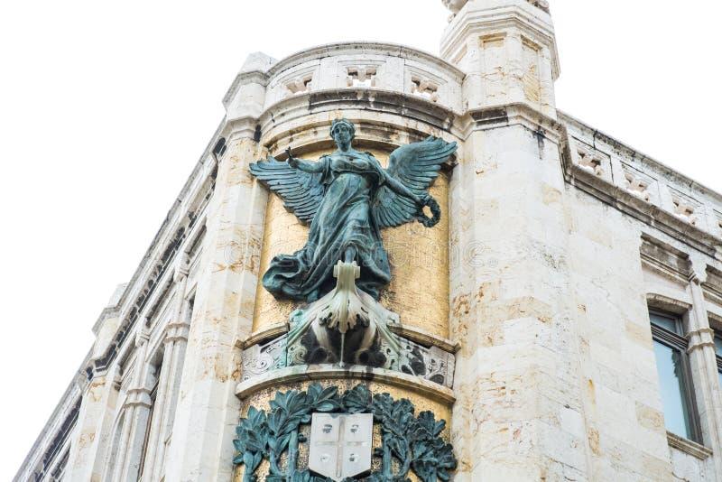 Agricolture rzeźba na Palazzo civico kącie, Cagliari, Sa zdjęcie royalty free