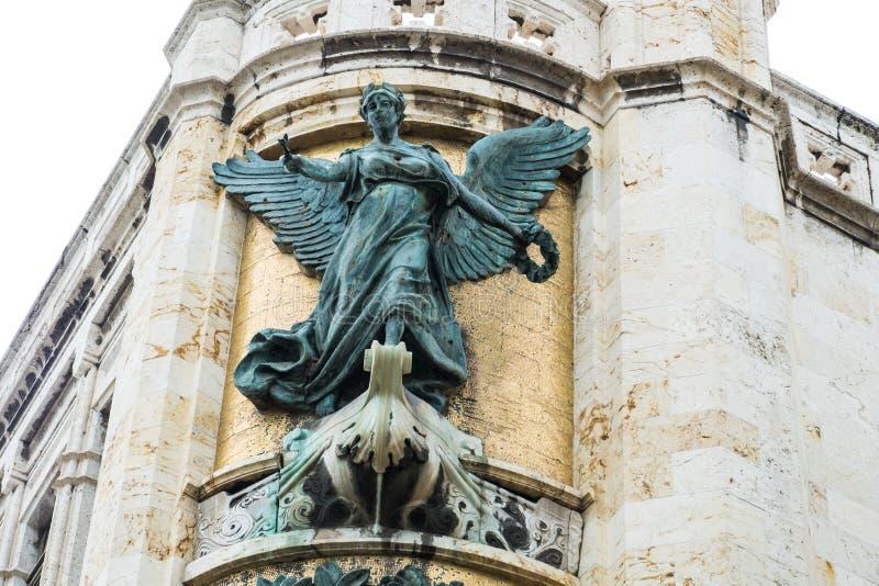 Agricolture rzeźba na Palazzo civico kącie, Cagliari, Sa obrazy royalty free