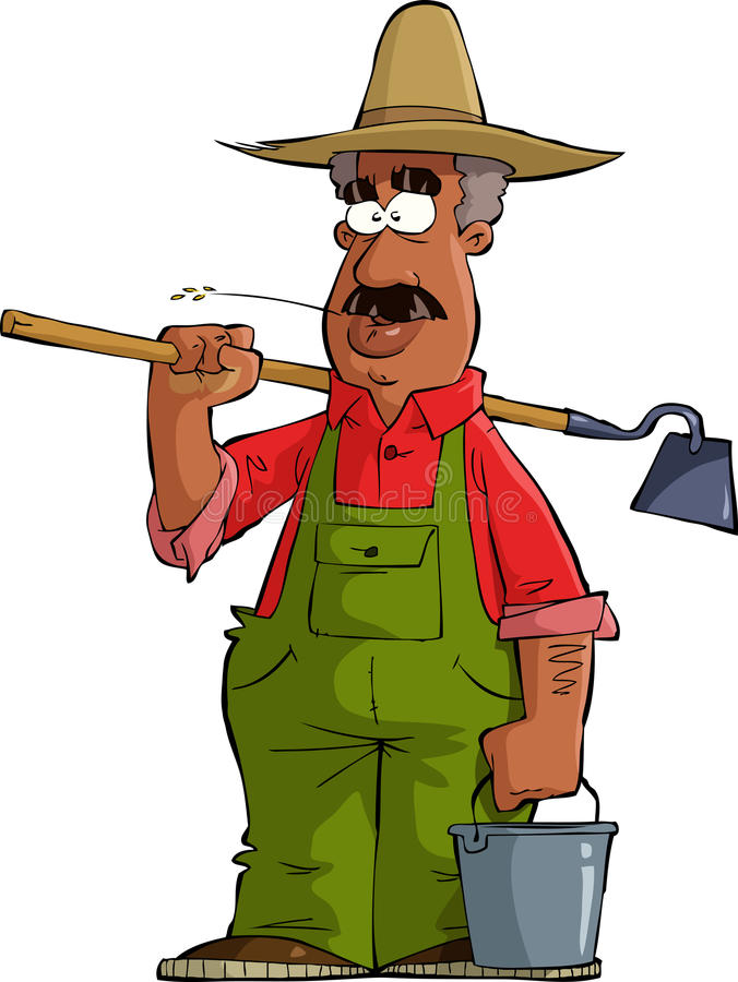 Agriculteur illustration de vecteur