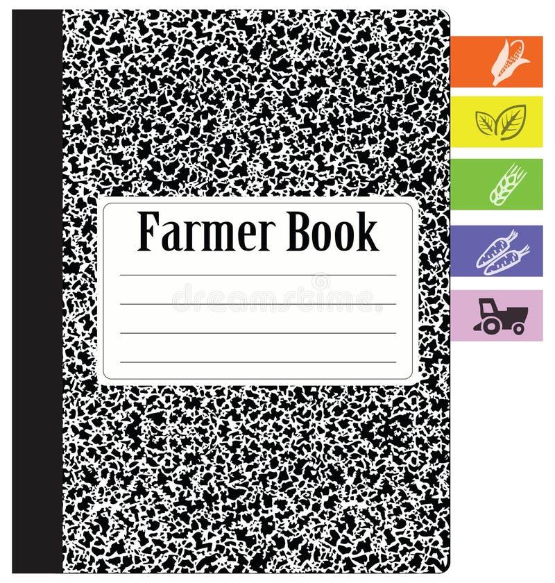 Agriculteur de livre illustration de vecteur