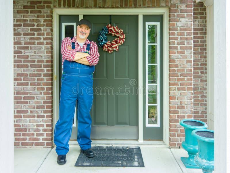 Agriculteur patriote célébrant le 4 juillet photographie stock libre de droits