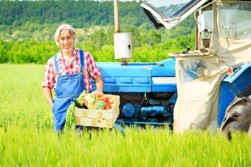 Agriculteur Standing In un champ photo libre de droits