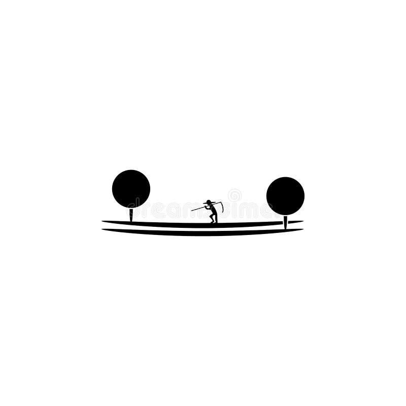 agriculteur sur l'icône de champ Élément des parcs et de l'icône de paysage Un de l'icône de collections pour la conception et le illustration de vecteur