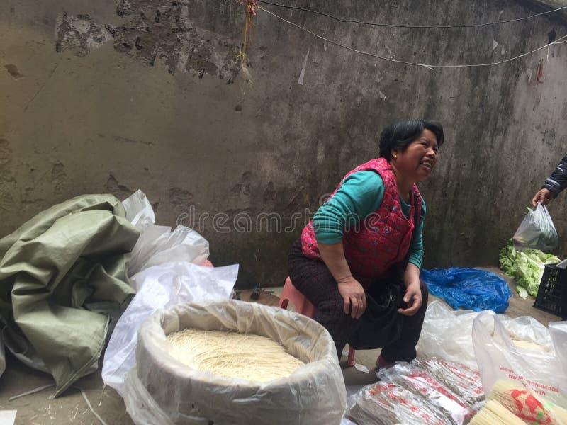 Agriculteurs marché-Nan-Tchang nouveau Year& x27 ; s Ève images libres de droits