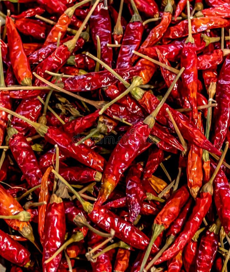 Agricultores Comercializam Peppers Vermelhos imagem de stock