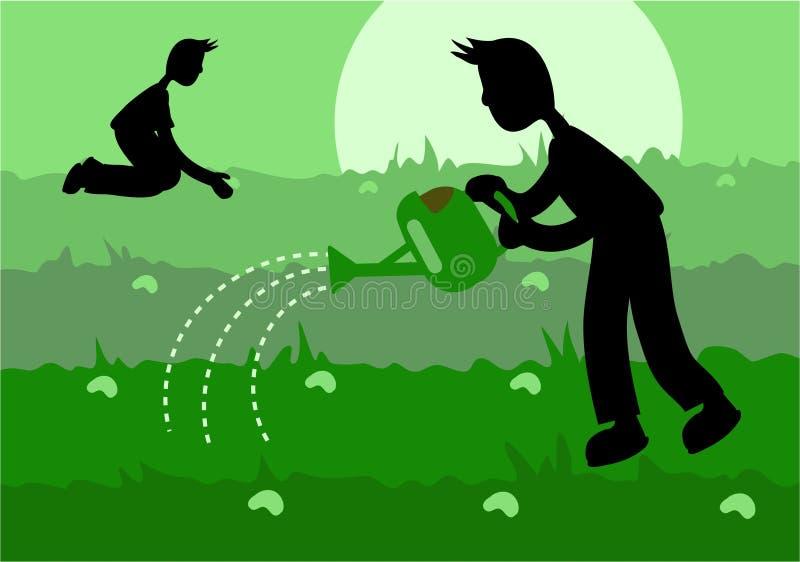 Download Agricultura ilustração stock. Ilustração de molhar, terra - 111679