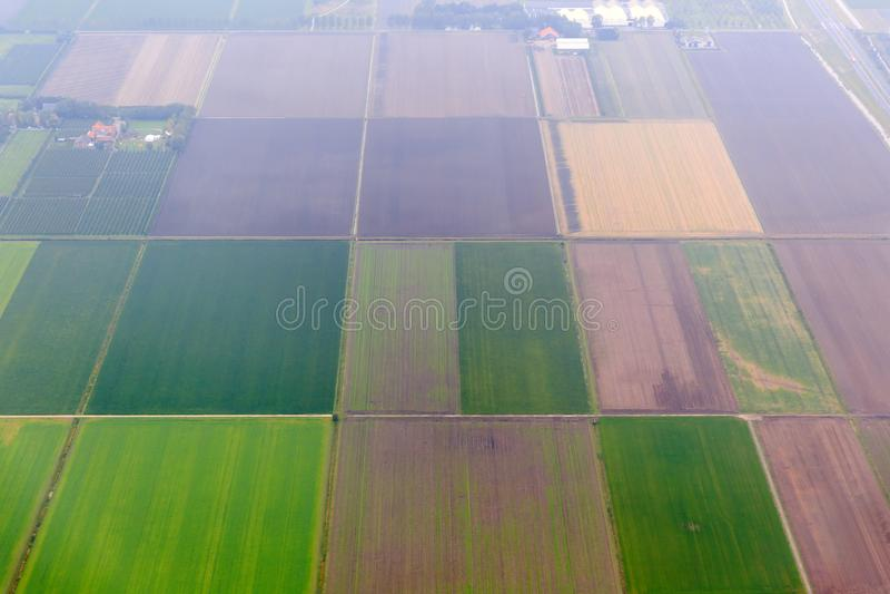Agricultura aérea de Países Bajos foto de archivo