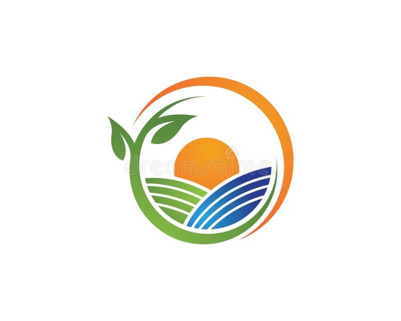 Agricultura del vector de la granja stock de ilustración
