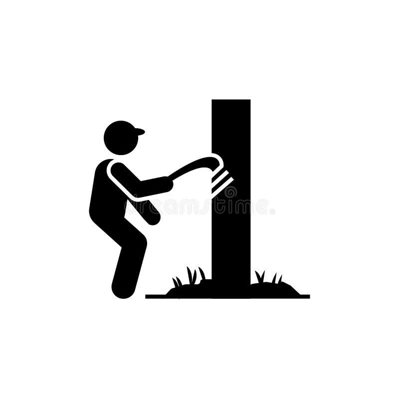 Agricultura, desinfecção do ícone de madeira Elemento do ícone dos trabalhadores ?cone superior do projeto gr?fico da qualidade s ilustração royalty free