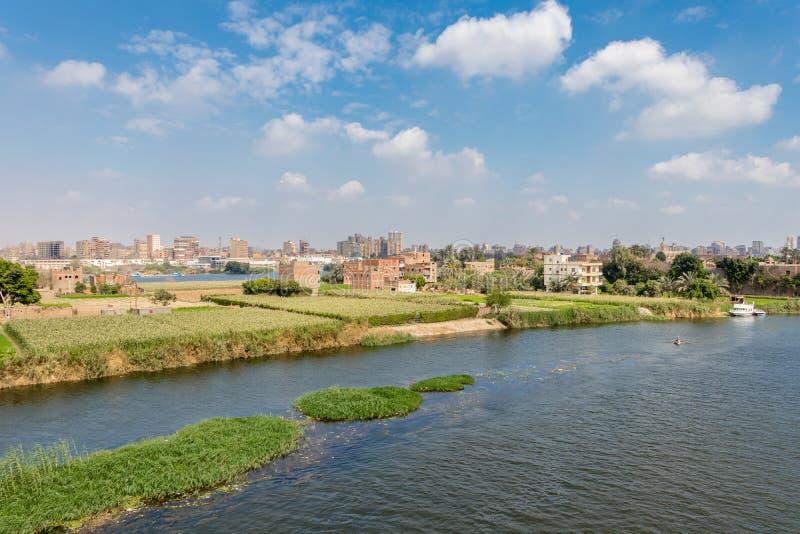 Agricultura en el medio de la ciudad de El Cairo en Egipto foto de archivo