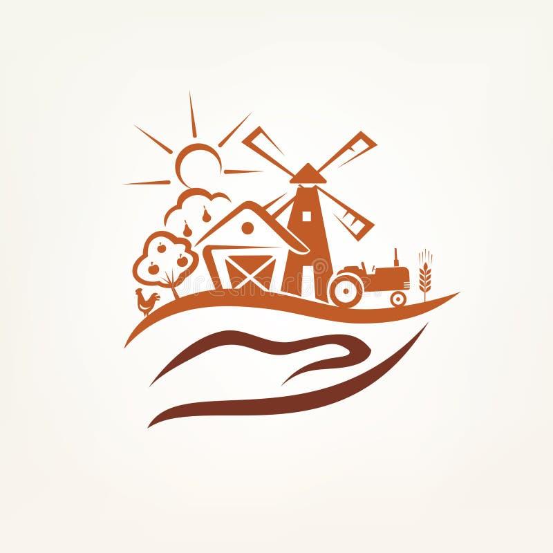 Agricultura y símbolo de la granja ilustración del vector