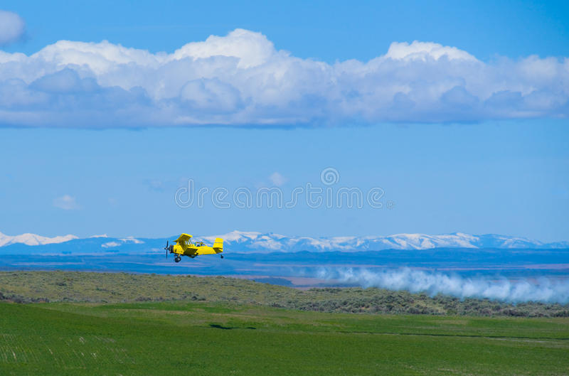 Agricultural Aircraft Spraying Fertilizer Royalty Free Stock Image