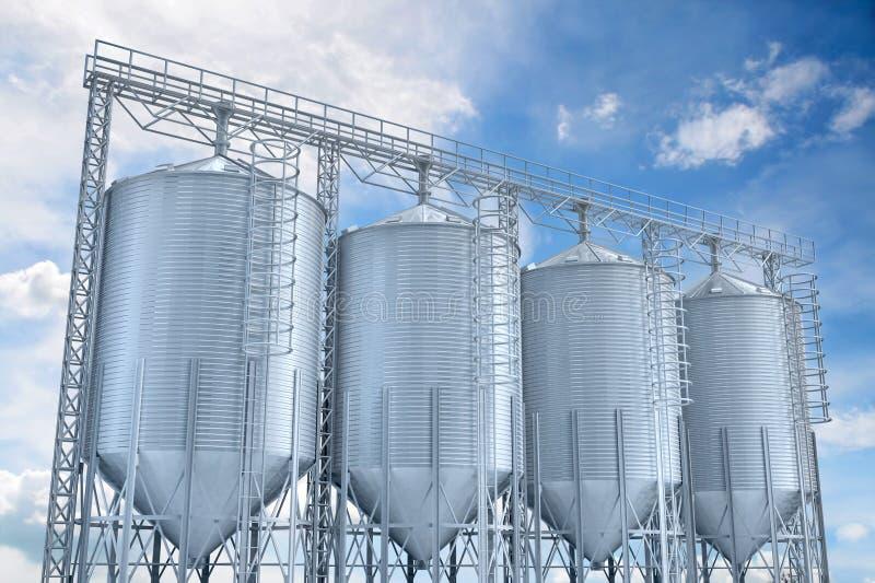 Download Agricultural Elevator Building For Corn Storage Stock Illustration - Image: 5316123