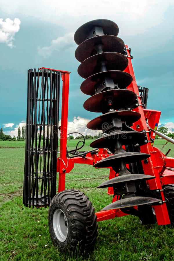 Agricultural equipment. Detail 163 stock image