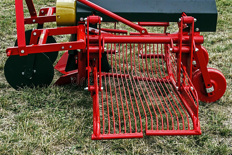 Agricultural equipment. Details 65 stock image