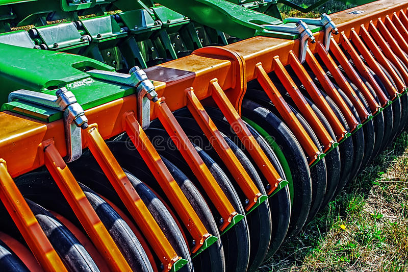 Agricultural equipment.Details 96 royalty free stock image