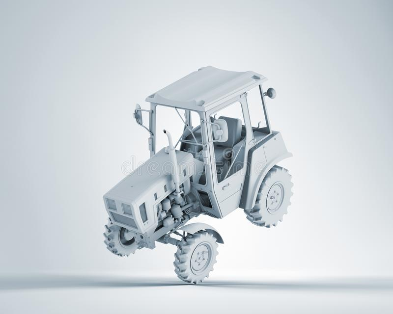 Agricultural generic tractor royalty free illustration