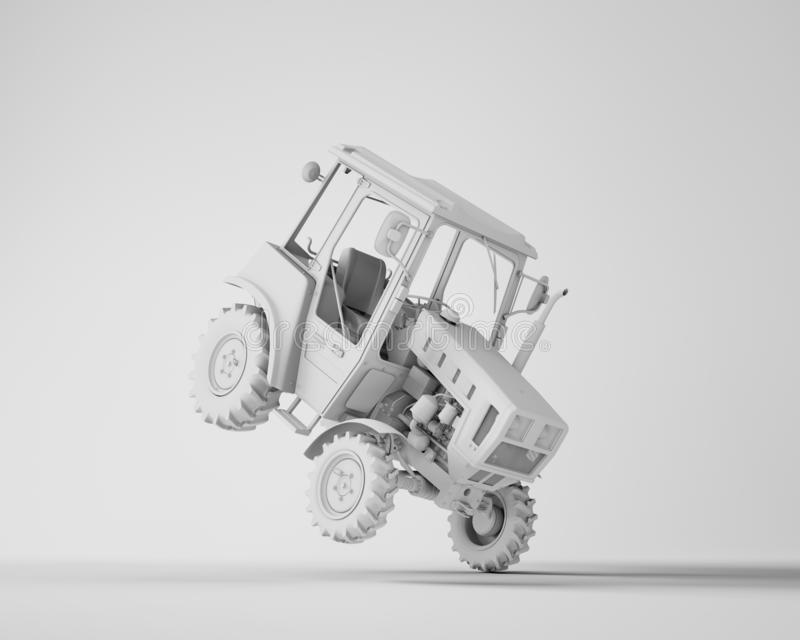 Agricultural generic tractor stock illustration