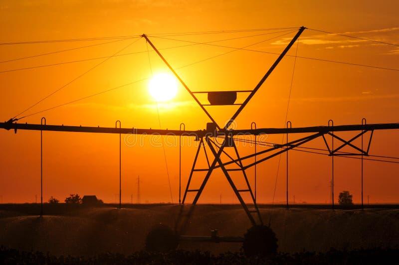 Agricultural Irrigation Sprinkler stock photos
