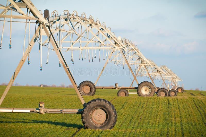 Agricultural Irrigation Sprinkler stock photography