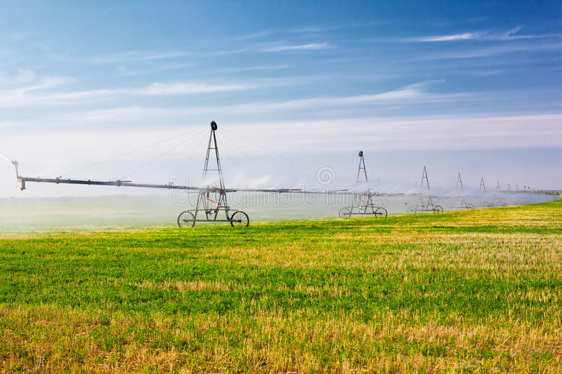 Agricultural irrigation system stock photography