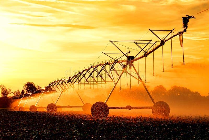 Agricultural Irrigation Waterwheel Water Sprinkler stock photos