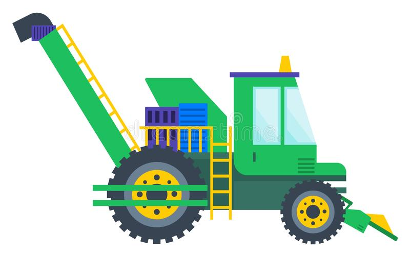 Agricultural Machine, Tractor or Combine Vector vector illustration