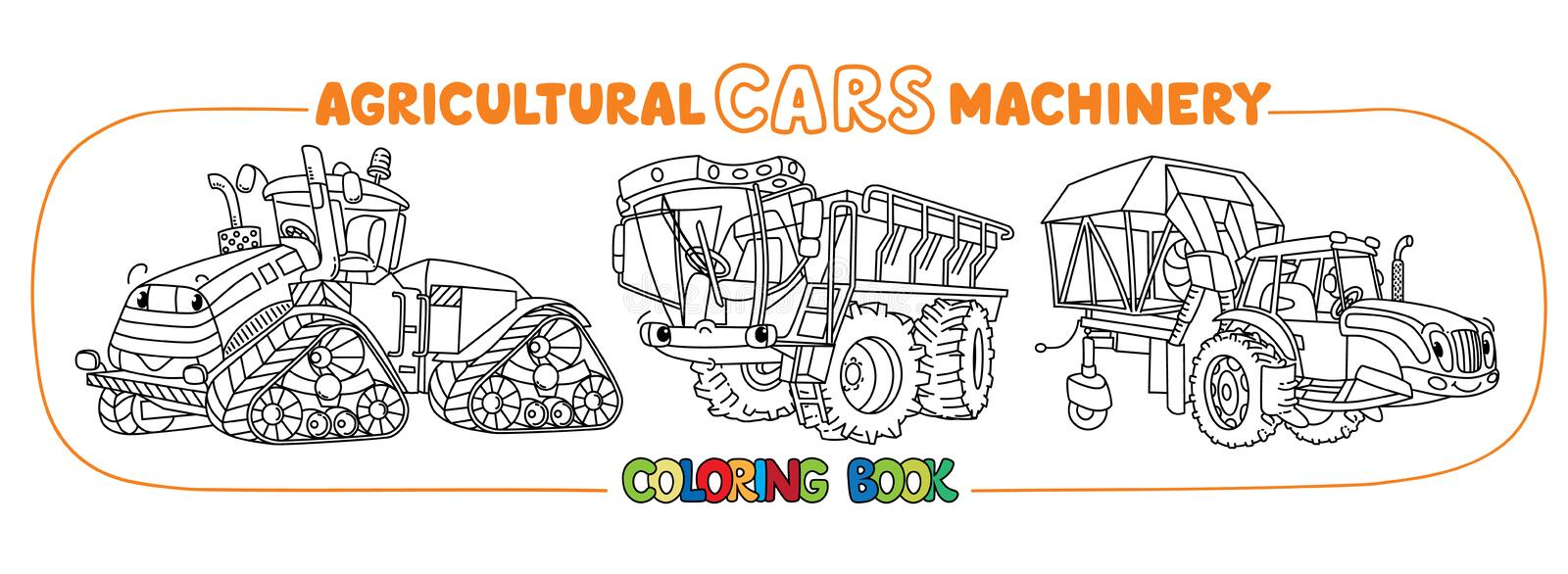 Agricultural Machinery Cute Cars Coloring Book Set Stock Illustration Illustration Of Book Child 167383354