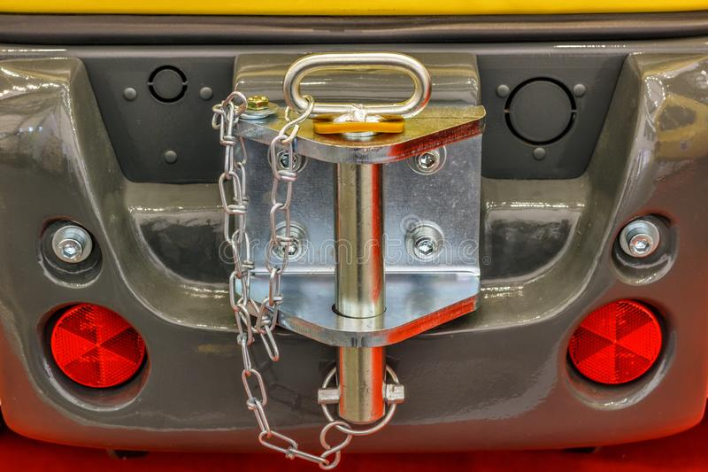 Agricultural machinery. Trailer hitch royalty free stock photo