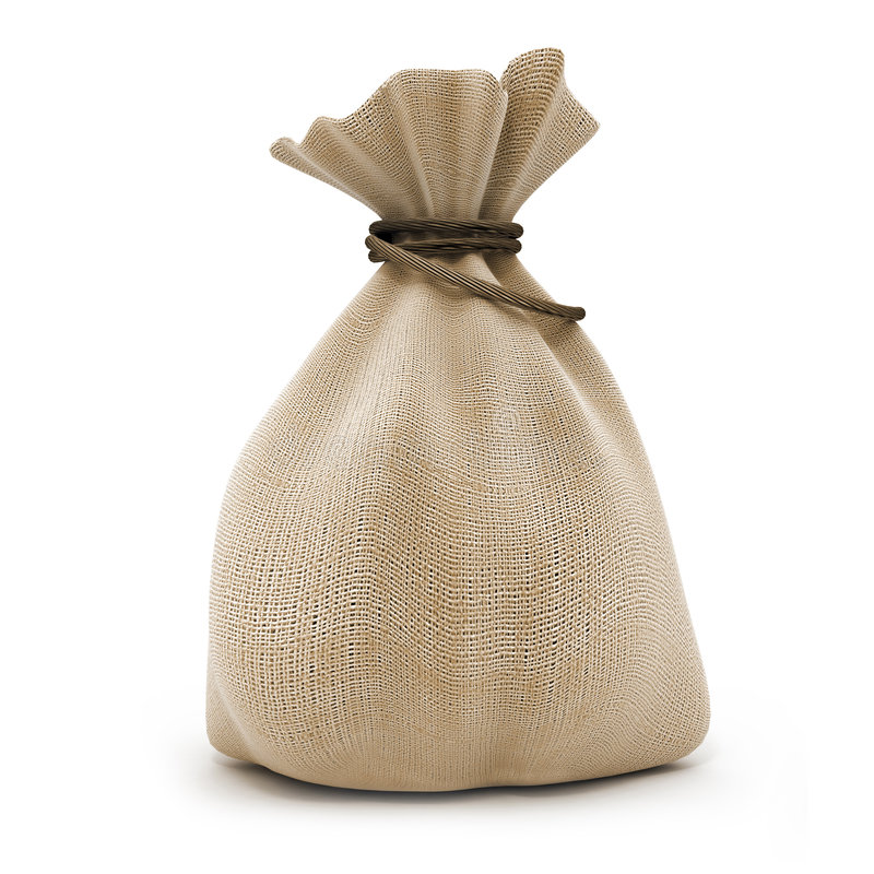 Agricultural sack stock photo