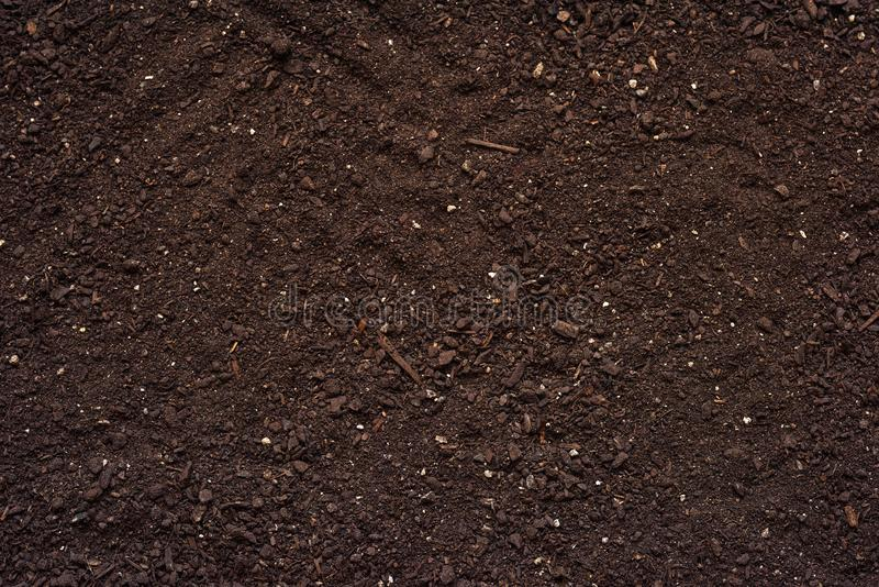 Agricultural soil texture top view royalty free stock photo