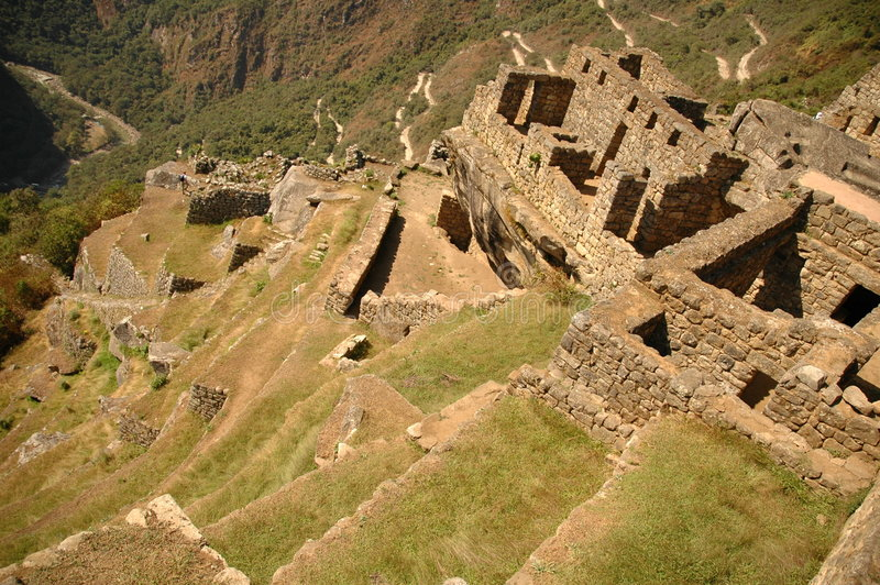 Agricultural terraces from Machu Picchu stock images