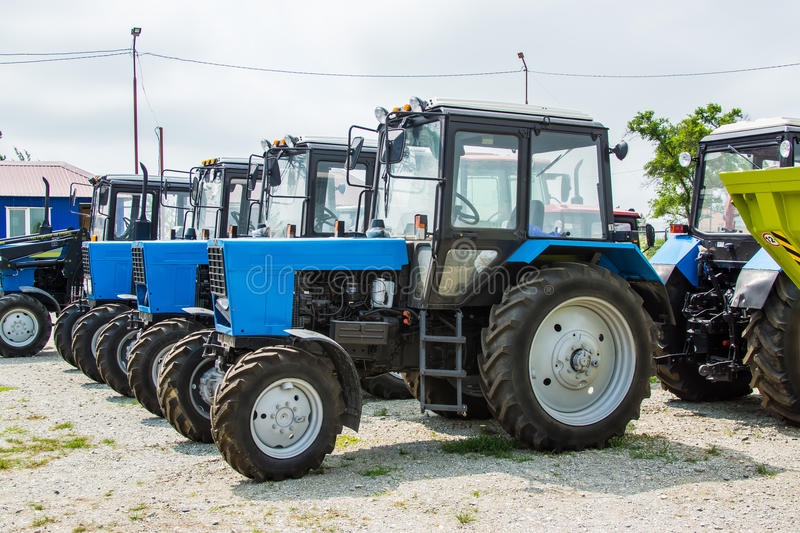 Agricultural tractors stock photography