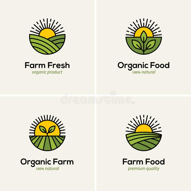Free Agriculture And Farming Logo Set Royalty Free Stock Photo - 190994345