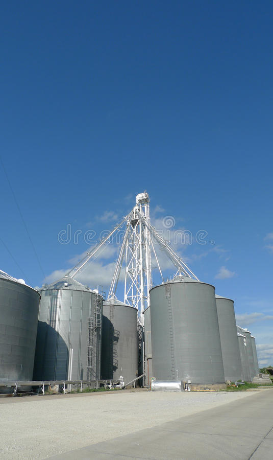 Agriculture Bins Vertical Photograph royalty free stock photos