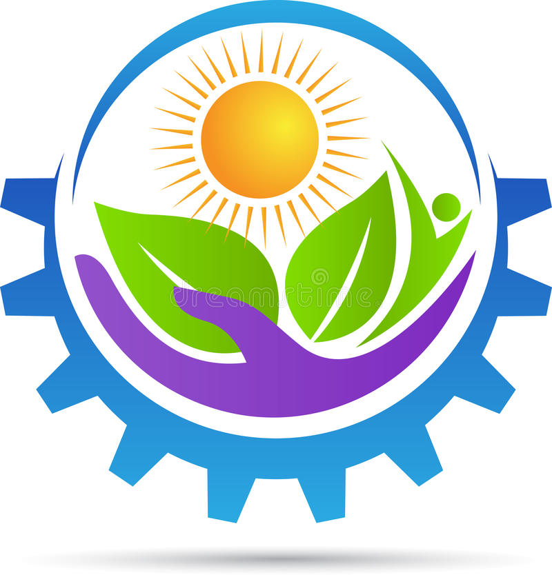 Agriculture care logo. A vector drawing represents agriculture care logo design stock illustration