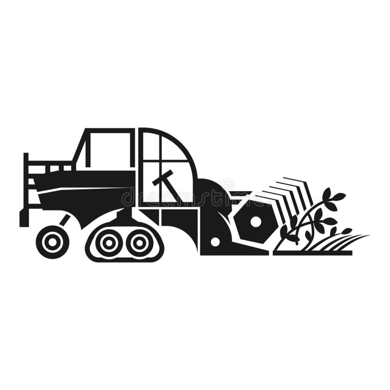 Agriculture combine icon, simple style. Agriculture combine icon. Simple illustration of agriculture combine vector icon for web design isolated on white royalty free illustration