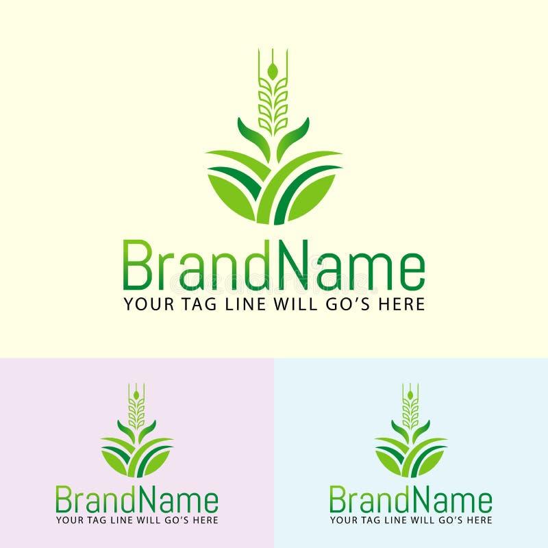Agriculture design logo royalty free illustration