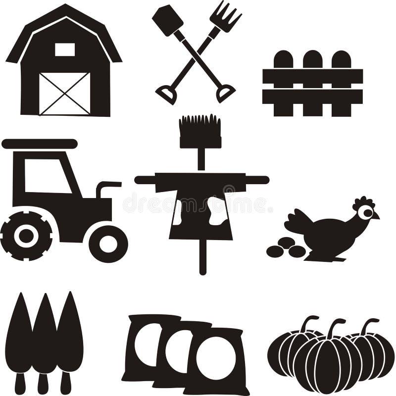 Agriculture du vecteur d'icône d'outils illustration de vecteur