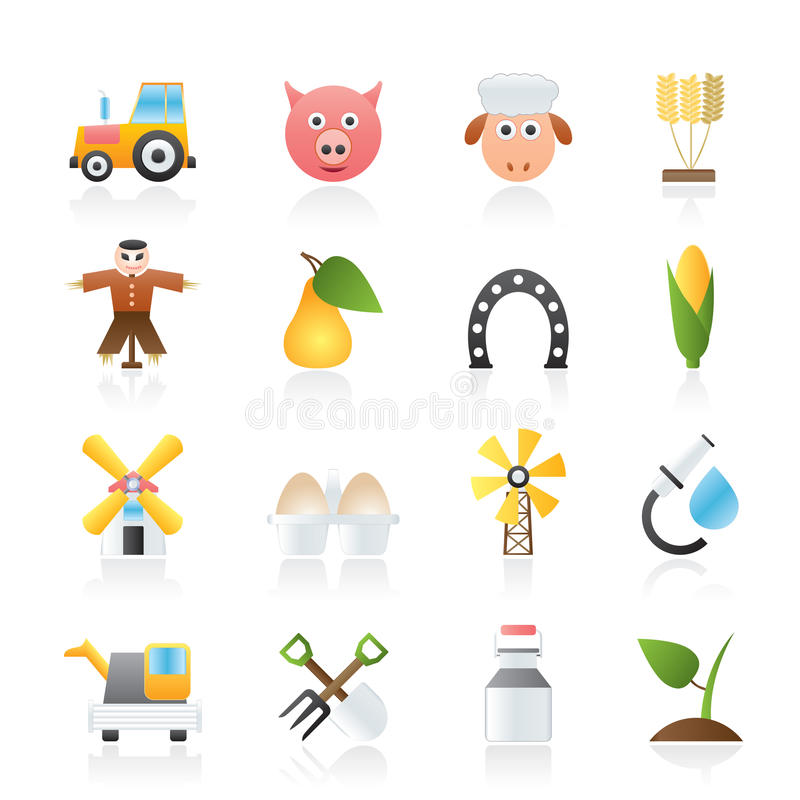 Download Agriculture And Farming Icons Stock Vector - Illustration of fruit, food: 23035552