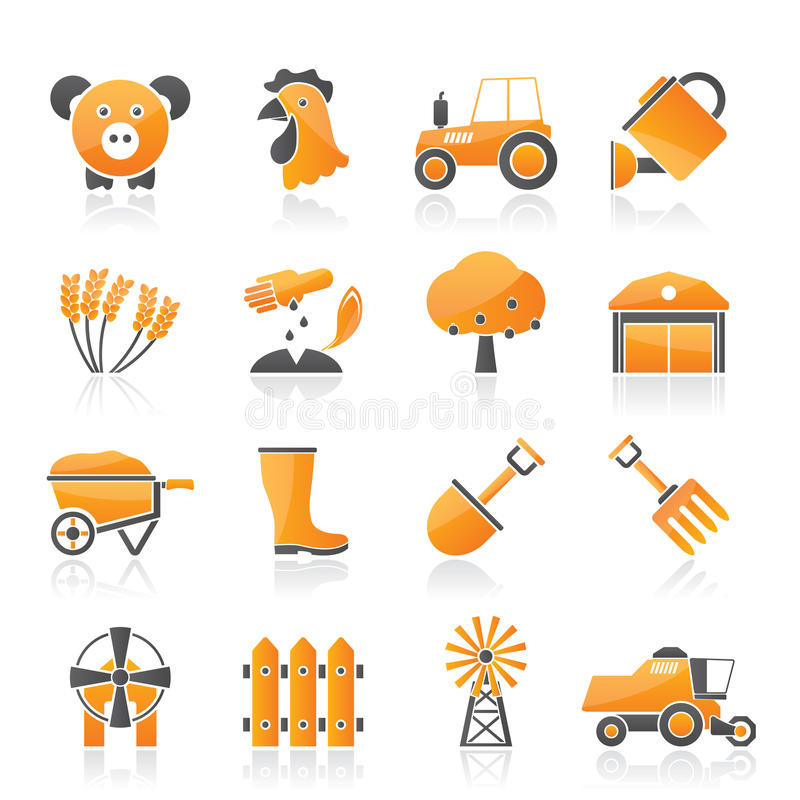 Download Agriculture And Farming Icons Stock Vector - Illustration: 35306712