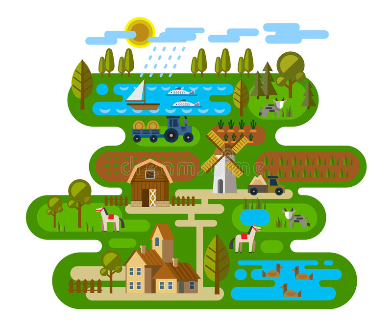 Agriculture and Farming stock illustration