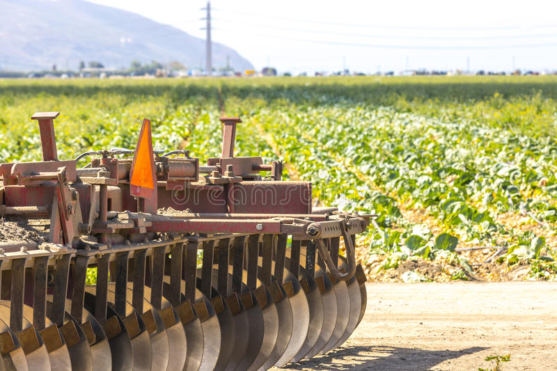 Agriculture Fields. Farm equipment and agriculture in Southern California stock photography