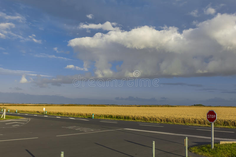 Agriculture fields Juno Beach Normandy France royalty free stock image