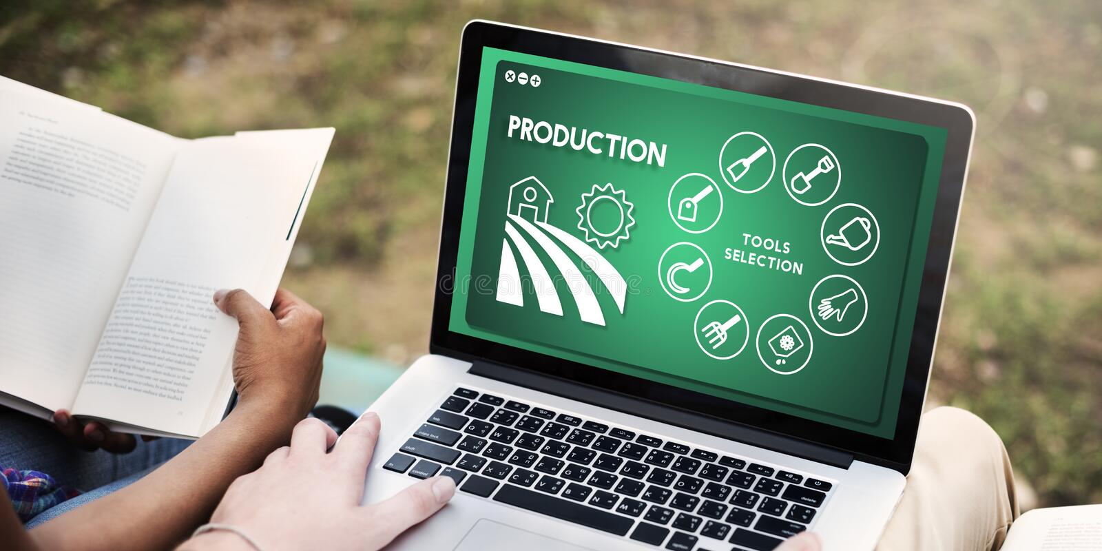 Agriculture Harvest Agronomy Cultivation Production Concept. People Studying Agriculture Harvest Agronomy Cultivation Production royalty free stock photos