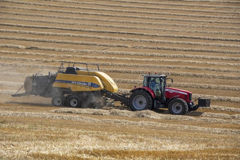 Agriculture - Hay Baler - Farm Machinery stock photos